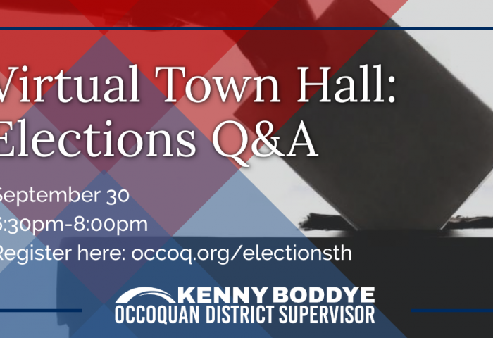 Elections QA Town Hall Graphic