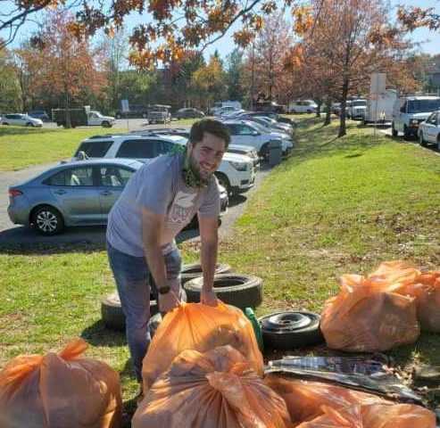 Volunteers clean up the community during Keep Prince William Beautiful event