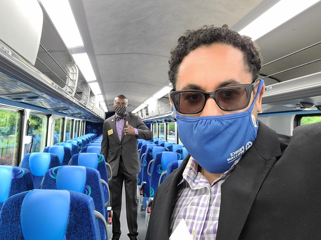 Supervisors Boddye & Angry inspect new commuter buses in Prince William County