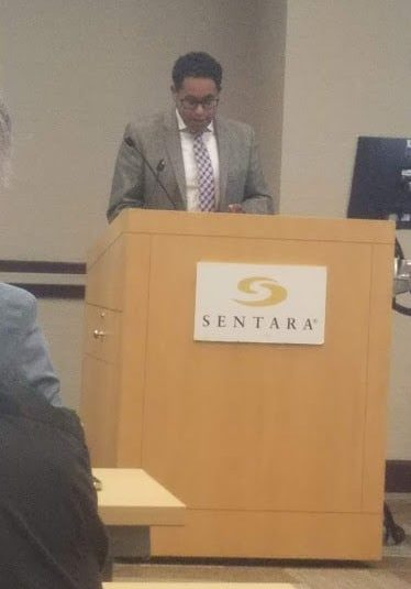 Occoquan District Supervisor Kenny Boddye emcees a discussion on improving mental health resources in Prince William County Virginia