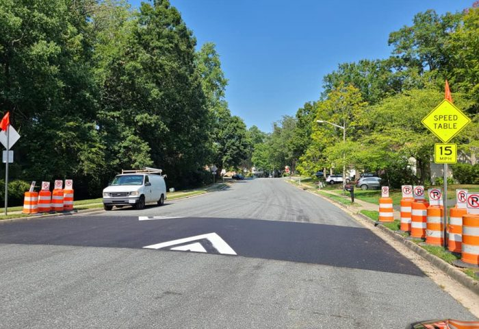 Speed Tables on Cotton Mill - traffic calming