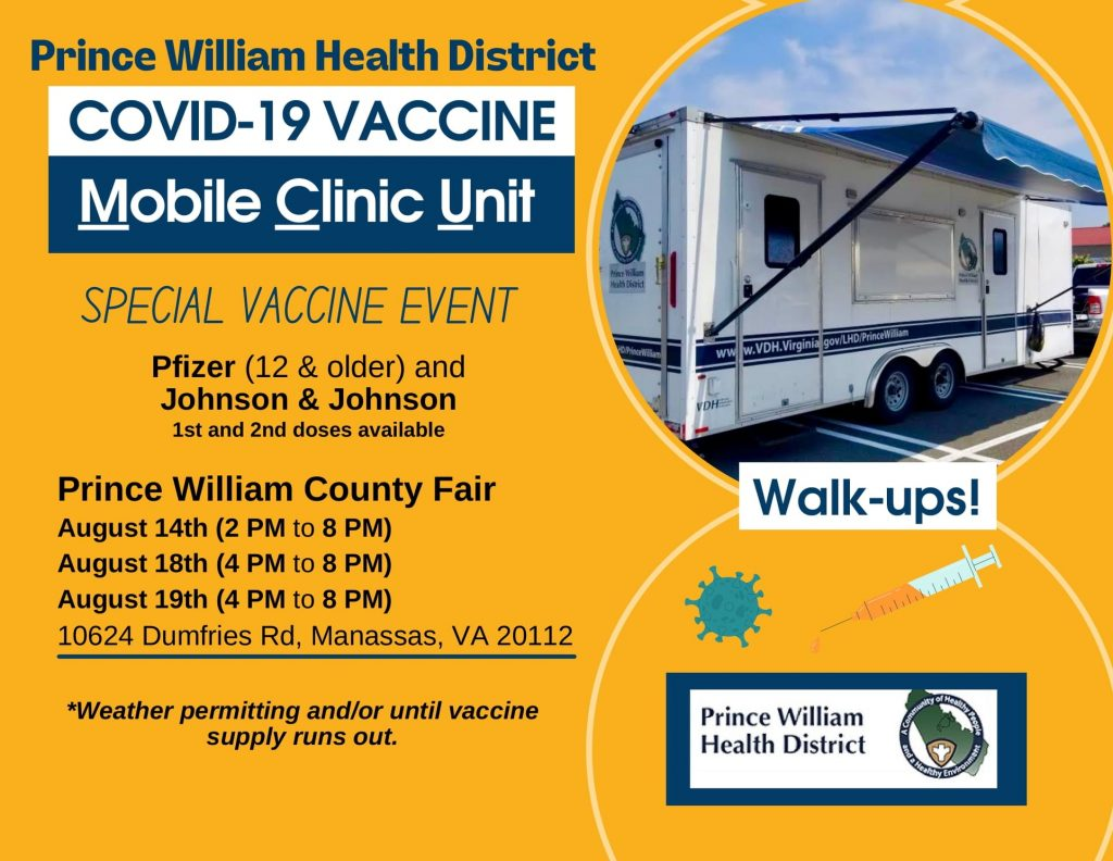 Protect against Delta - Walk-up Vaccine Clinic at Prince William County Fair